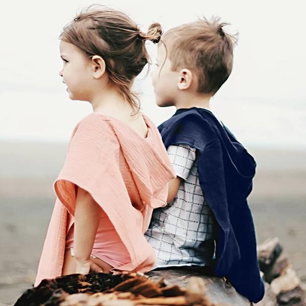 Baby Girl Boy Cloak Floral Print Princess Solid Pattern Hooded Coat Outwear Cape Children Kids Jacket Unisex Clothes