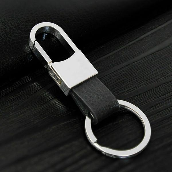 2PCS 창조적 인 금속 PU 가죽 열쇠 고리 링 열쇠 고리 자동차 자동차 오토바이 하우스 유니버설 열쇠 고리 키 체인 남성 선물