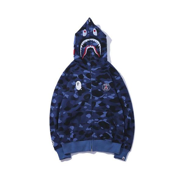 fashion hoodie de luxo camuflagem impressão skate homens streetwear Harajuku e mulheres hip hop do hoodie tubarão