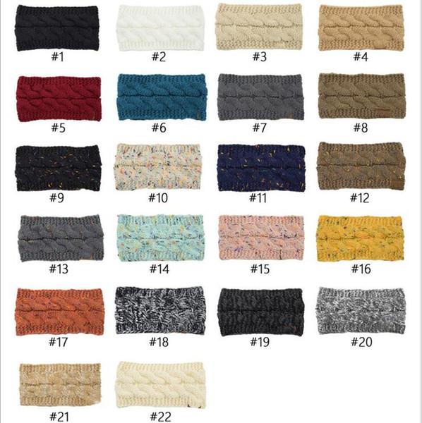 Fascia inverno lavorato a maglia Crochet di Hairband Turbante Twist scaldino dell'orecchio fascia elastica dei capelli largo di lana Sport headwrap Beanie Accessori per capelli B6158