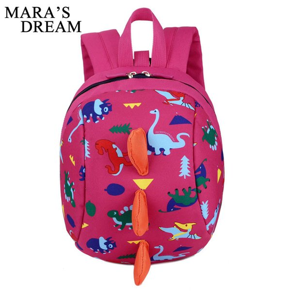 Mara's Dream Children Backpack Nylon Waterproof Cartoon Dinosaur Anti Lost Kindergarten School Bags Baby Girl Backpack Kids Boys