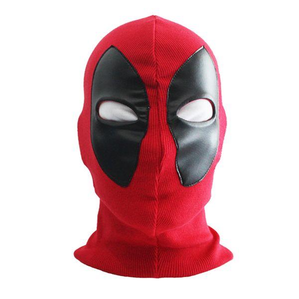 New Cool Marvel Superhero Deadpool Mask Breathable Fabric Faux Leather Full Face Mask Halloween Cosplay Keep Warm Balaclava Hat