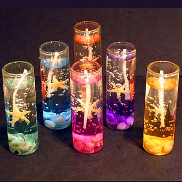 top popular Creative Scented Jelly Candle Glasses Cup Shaped Transparent Diy Aromatherapy Candles For Birthday Christmas Party Decorations 1 25dg E1 2021