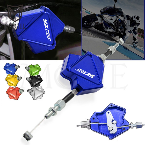 Stunt moto en aluminium CNC Levier d'embrayage facile Tirez système de câble YAMAHA YZ250F YZ 250F 250 YZ250 F 2001-2019 2002 2003 2004