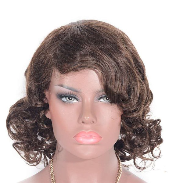 Lace Front Human Hair Wigs for Black Women Brazilian Loose Curly Glueless Lace Wigs 6-26 inch Ping