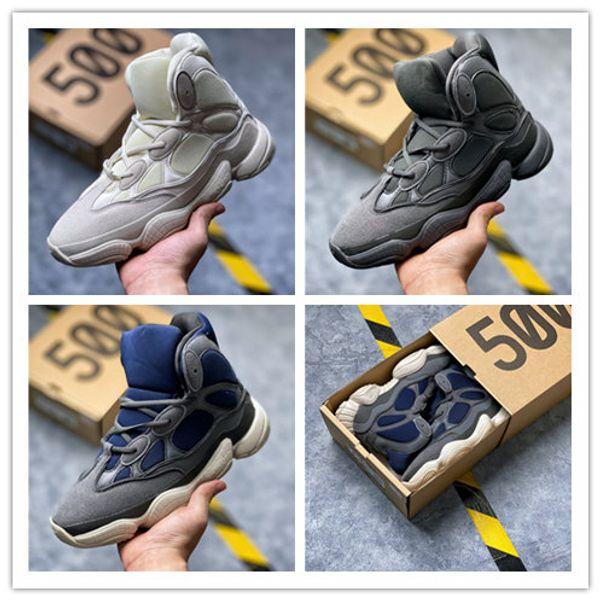 Kanye West 500 Yüksek Top Slate Kemik Beyaz Taş 500 çöl faresi Siyah Kadın Erkek Spor Yüksek Top Basketbol Ayakkabıları