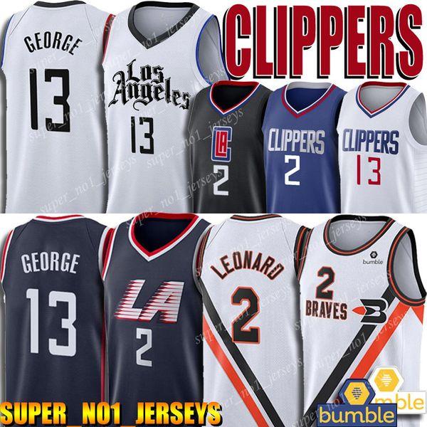 top popular Clippers Jersey Kawhi 2 Leonard Jersey LA Buffalo Braves Jersey Paul 13 George Jerseys 2019-20 Classic Edition 2019