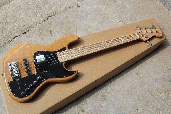Free Shipping Hot Sale High Quality F Marcus Miller Signature Jazz Bass 5 String Natural Color Bass Guitar In Stock