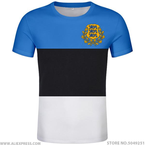 ESTONIA camiseta bricolaje número personalizado libre hecha nombre est camiseta estado indicador ee foto impresora de Estonia Eesti universitarios estonios ropa