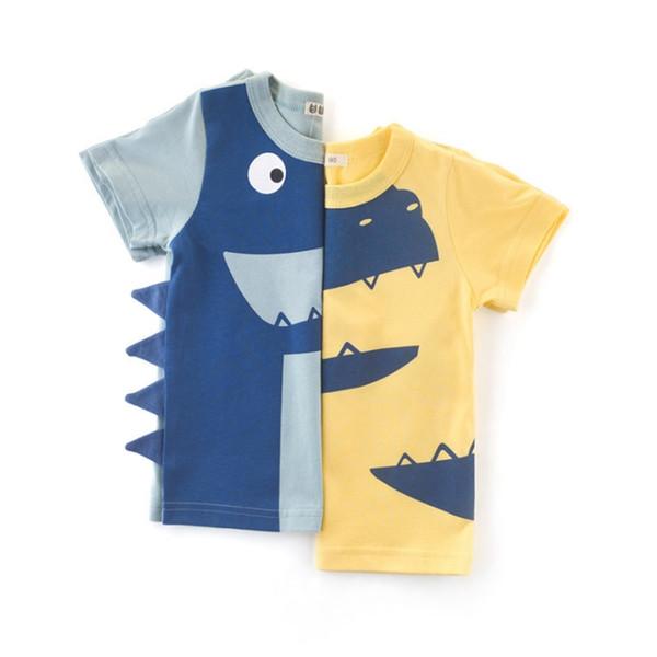 Bambini Vestiti del ragazzo del fumetto Dinosaur Ragazzi T-Shirt Manica corta Boy Camicie Carino bambini Tees Tops Estate Abbigliamento bambini YW3864