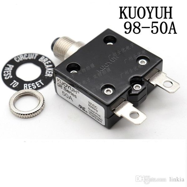top popular Taiwan KUOYUH 98 Series-50A Overcurrent Protector Overload Switch 2021