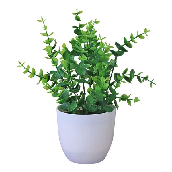 Plastic Artificial Plants Bonsai Artificial Foliage Plant Potted Ornament Fake Plant Party Wedding Decoration Desk Home Decor