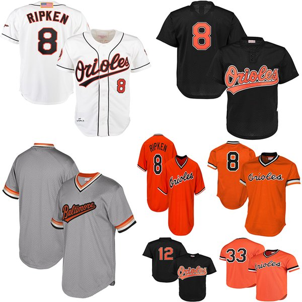 4f9f953a1 Baltimore Cal Ripken Jr Orioles Orange 1988 Cooperstown Collection Eddie  Murray Roberto Alomar Mesh Batting Practice