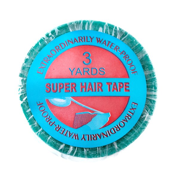 Neitsi 1roll 1.0 cm * 3 ярдов водоустойчивая Голубая двухсторонняя лента для выдвижения волос утка кожи