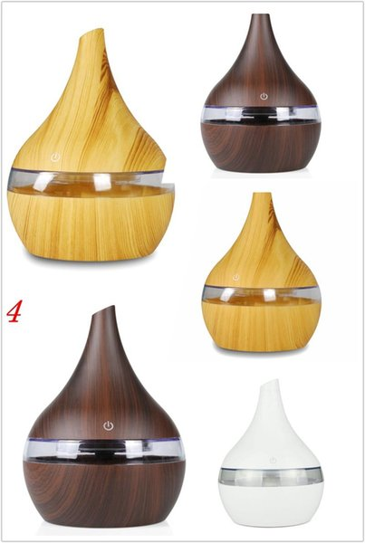 New Usb Electric Aroma Air Diffuser Wood Ultrasonic Air Humidifier Essential Oil Aromatherapy Cool Mist Maker For Home 300ml Free Shipping