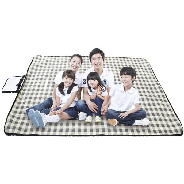 Tapis de camping en plein air pliable portatif de tapis de pique-nique imprimé tapis imperméable à l'humidité de tissu Oxford pour la terre d'herbe de plage