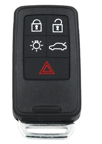 5 Button Remote Key Smart Car Key FOR Fob 434Mhz ID46 Chip for Volvo XC60 S60 S60L V40 V60 S80 XC70 KYDZ Uncut Blade