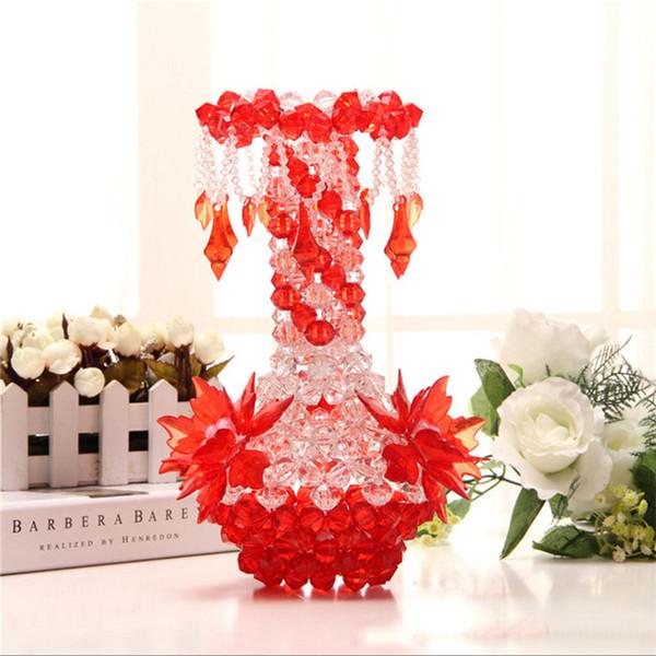2019 ew DIY handgemachte Blumenvase Acryl Anhänger Flasche Dekoration Schlafzimmer Wohnzimmer Haus Kreative Dekoration Handwerk