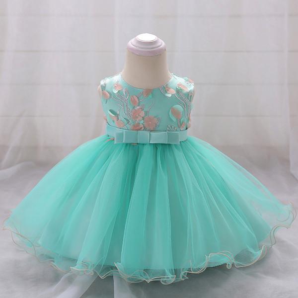 Retail Flower Girls Summer Dresses Wedding Gown Baby Girl Birthday Baptism Princess Dress 6-24 Month L1848xz Q190518