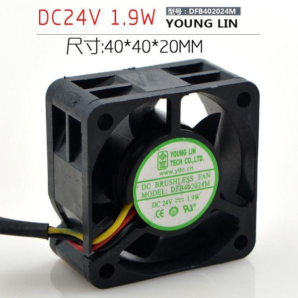 Yonglin DFB402024M 4 CM 24 V 1.9 W 3 Hat Dönüştürücü Fan 4020 Sunucu Fanı