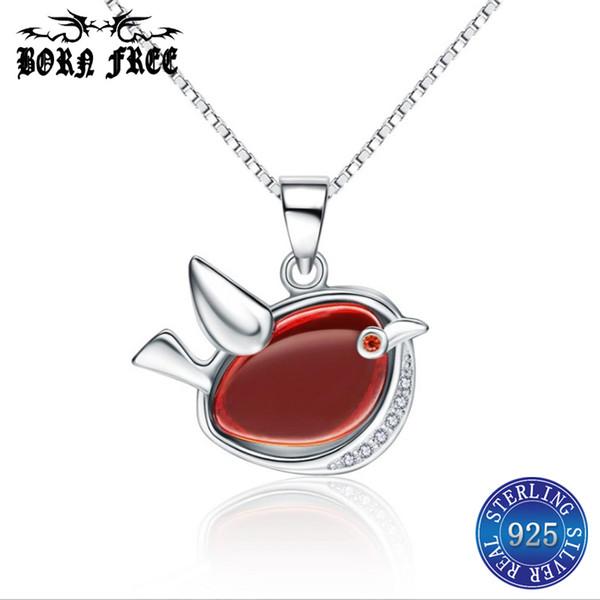 925 sterling silver necklaces pendants for women cute bird pendant locket charms pendentif jewelry bijoux joyas de plata 925