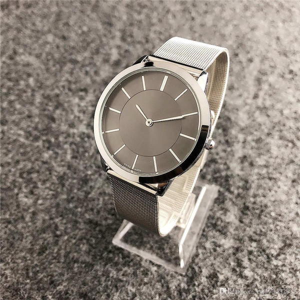 Unique Designer Brand Luxury Men And Women Ultra-thin Alloy Strap Multi-color Steel Belt Quartz Watch Casual Lovers Table Custom Wholesale
