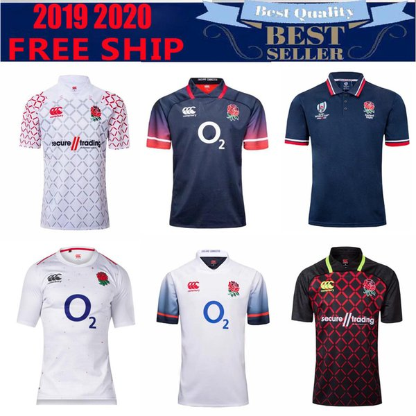 top popular 2018 2019 HOME JERSEY RUGBY LEAGUE WORLD CUP 2019 English rugby jersey shirts Adult size S-3XL 2019