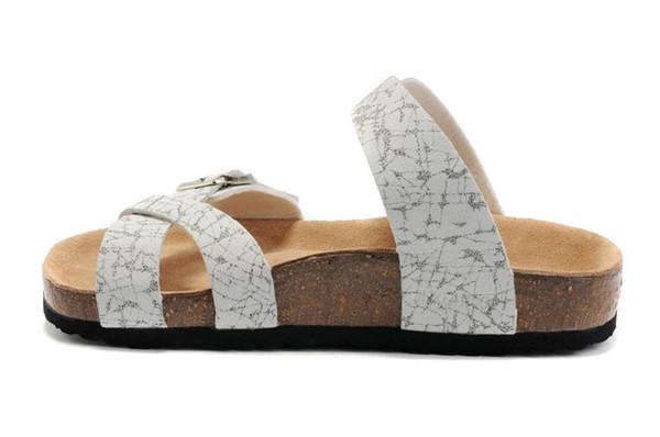 2019 sandali casual moda per uomo e donna infradito da spiaggia estate, comode pantofole da casa in pelle con plateau
