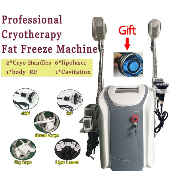 Dual Griffe Fat Freeze Cool Body Sculpting Fett Einfrieren Lipo Laser Kavitation 650nm Rf-Vakuum-Körper, der Maschine für Salon BADEKURORT-Gebrauch abnimmt