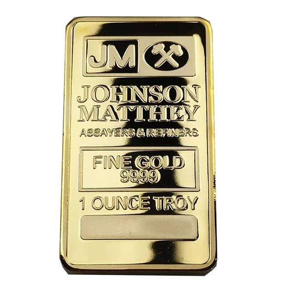 Brand new JM Johnson matthey 1 oz Pure 24K real Gold silver Plated Bullion Bar