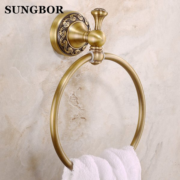 euro style wall mount antique copper towel ring bathroom accessories bath towel holder bath hardware zl-8506f