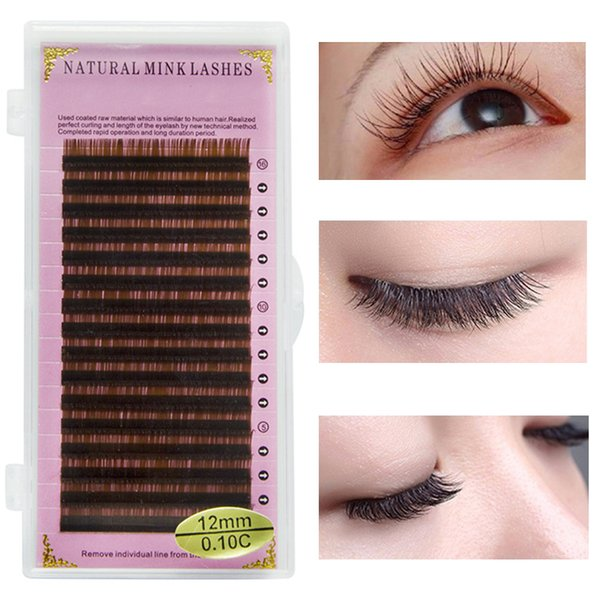 ICYCHEER EyeLashes 0 07/0 10 C/D Curl 8 14mm High Quality Brown Eyelashes  Extension Individual Eyelash Faux Mink Cilia Lashes Eye Lash Eyelash