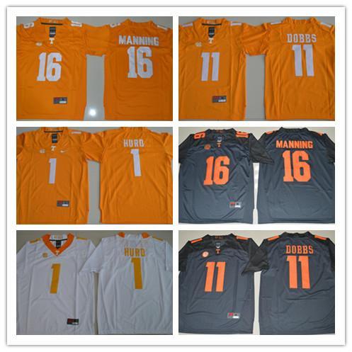Tennessee Volunteers 16 Peyton Manning 1 Jalen Hurd 11 Joshua Dobbs College Football Trikots Günstige All Stitched Herren Kindertrikots