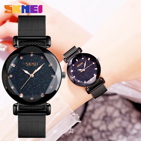 SKMEI Femmes Montres magnétiques Starry Sky Femme horloge montre à quartz dames de mode montre-bracelet