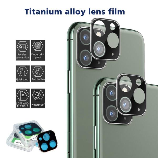 Camera Film, vetro temperato per iPhone 11 Schermo Pro Lens Max Camera Lens Protector lega in titanio copertura ultra sottile completa posteriore dura Camera