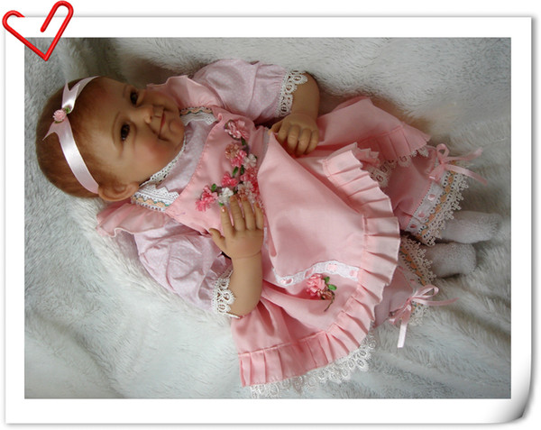 Bebe Reborn 55cm Silicone Reborn Baby Doll Kids Playmate Gift for Girls Baby Alive Soft Toy for Bouquets Doll Toys