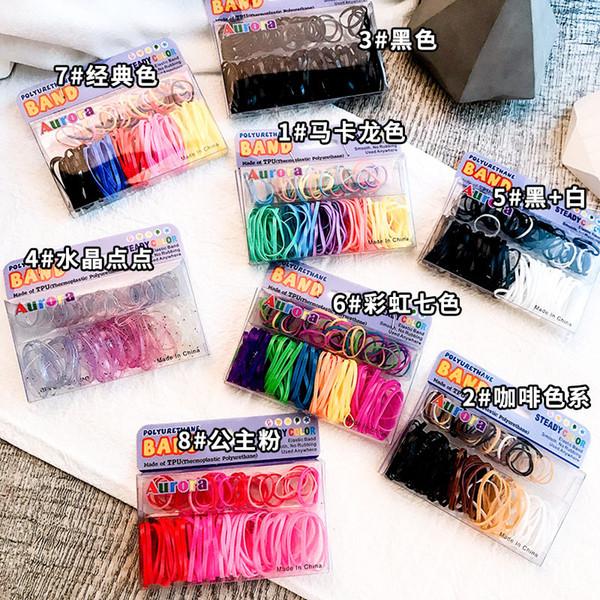 Fasce per capelli elastiche alla moda per ragazza Elastico per capelli Cravatte per bambini Bambini Accessori per capelli Copricapo Coreano