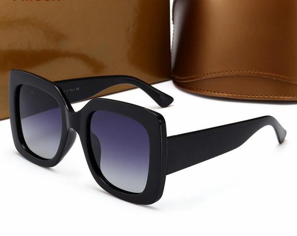 Beliebte sonnenbrille luxus frauen markendesigner 00836 platz sommer stil full frame top qualität uv schutz gemischt mit box