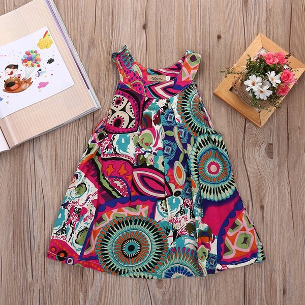 PUDCOCO Toddler Kid Baby Girl Summer Lace Crochet Dress Princess Party Pageant Dresses