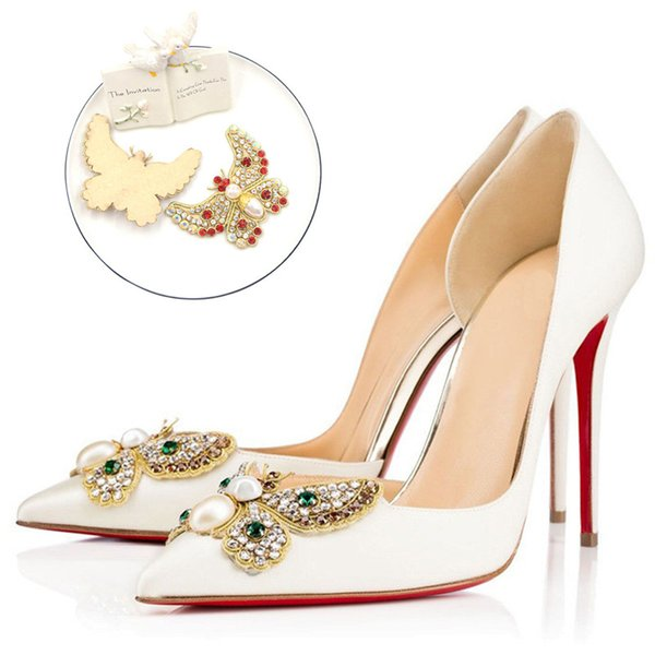 Shining Rhinestone Bridal Wedding Party Shoes Accessories For High Heels Sandals Boots DIY Decorations Shoe Flower
