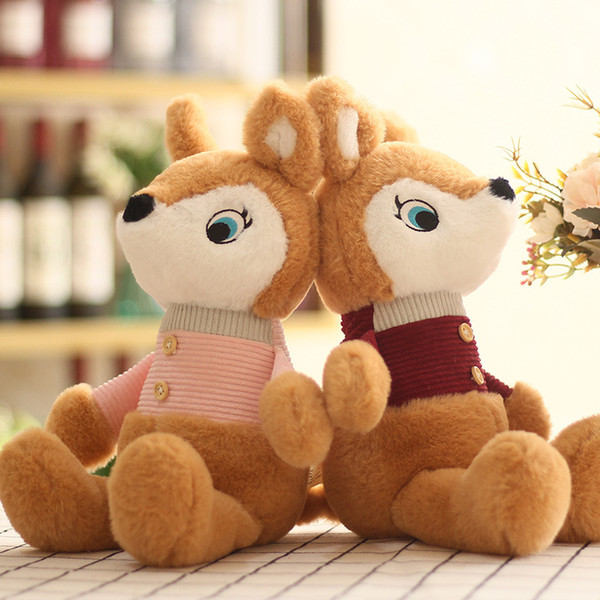 Fine fox plush toys girls dolls cute dolls fox dolls exquisite holiday gifts wholesale