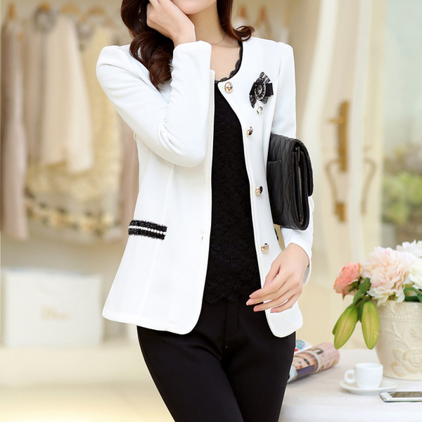 Spring and Autumn new small suit jacket plus fertilizer to increase the size of self-cultivation fashion ladies short jacket Y190829