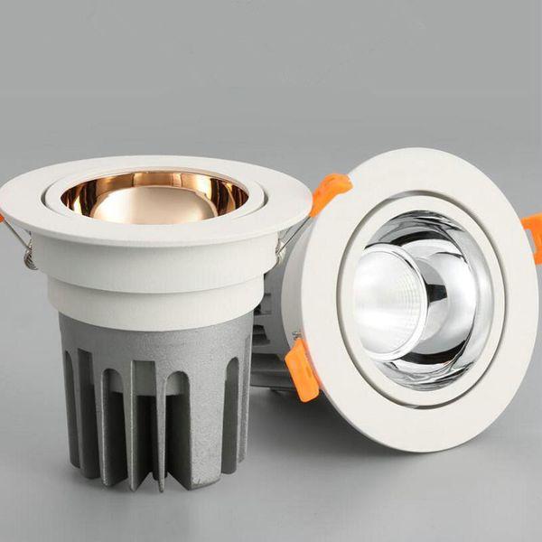nuevo tipo Dimmable 12W COB LED downlight Frío blanco / blanco cálido LED empotrado Gabinete Lámparas de techo AC85V-265V