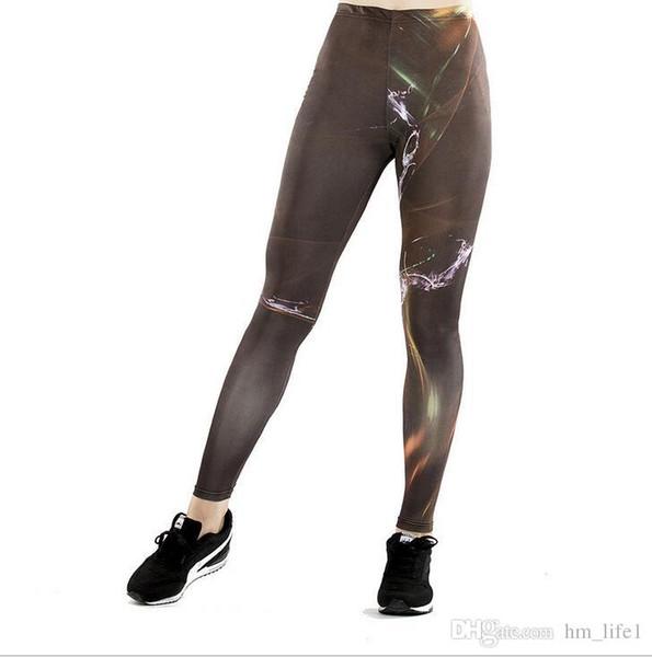 Frauen Yogahosen Hosen Strumpfhosen Hosen Frauen neu Hohe Taille Tanz aktiv Lady 3D Digitaldruck Leggings Skinny silm motion