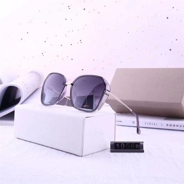 Nuevo diseñador Mujeres Gafas de sol de lujo de gran tamaño gafas de sol cuadradas Protección UV de alta calidad Famosas gafas protectoras gafas con caja