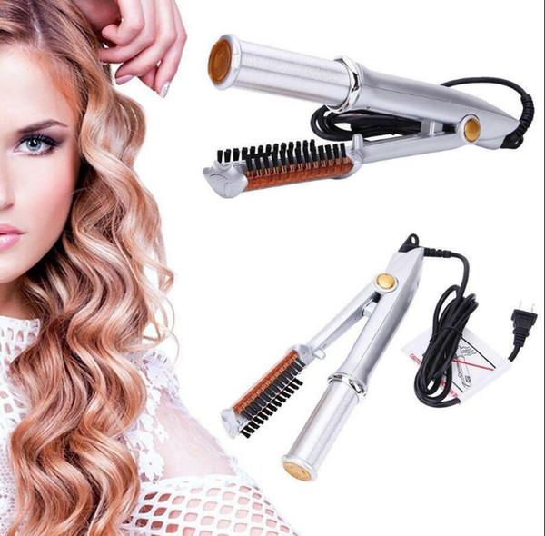Caldo dei capelli di vendita che designa gli accessori dei capelli professionale che raddrizzano il ferro Curling Iron Style 2 in 1 raddrizzatore dei capelli Strumento di stile