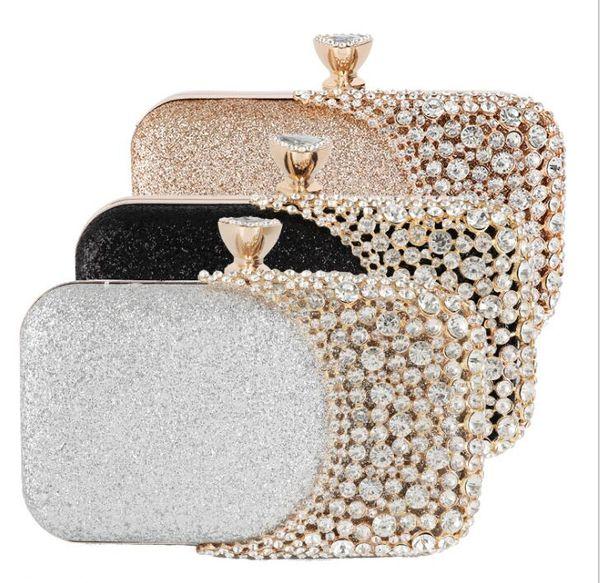 top popular New Evening Bag Women Clutch Bag Gorgeous Pearl Crystal Beading Bridal Wedding Party Bags CrossBody Handbags 2020