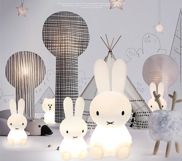 kızı için LED karikatür sevimli tavşan ışık çocuk odası sıcak gece ışığı renkli ışık yaratıcı güzel tavşan lamba, hediye