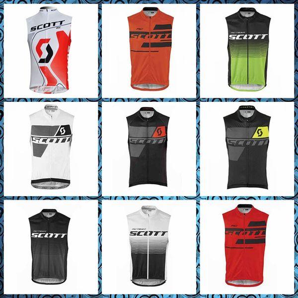 SCOTT Ciclismo Jersey sin mangas Chaleco de los hombres de moda de verano de secado rápido Cómodo Cómodo entrega gratuita 53038