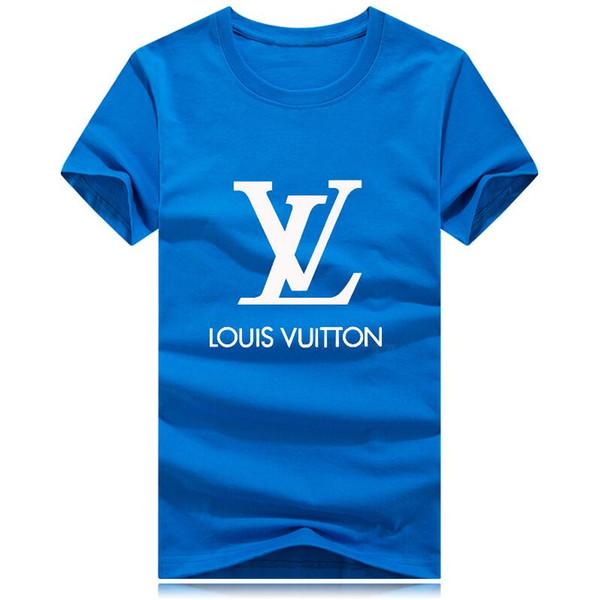 Fiore grande logo uomo T-shirt Moda 2018 Uomini di marca manica corta T Shirt uomo Casual 100% cotone Tshirt Top Camisetas Hombre Camisa 2019